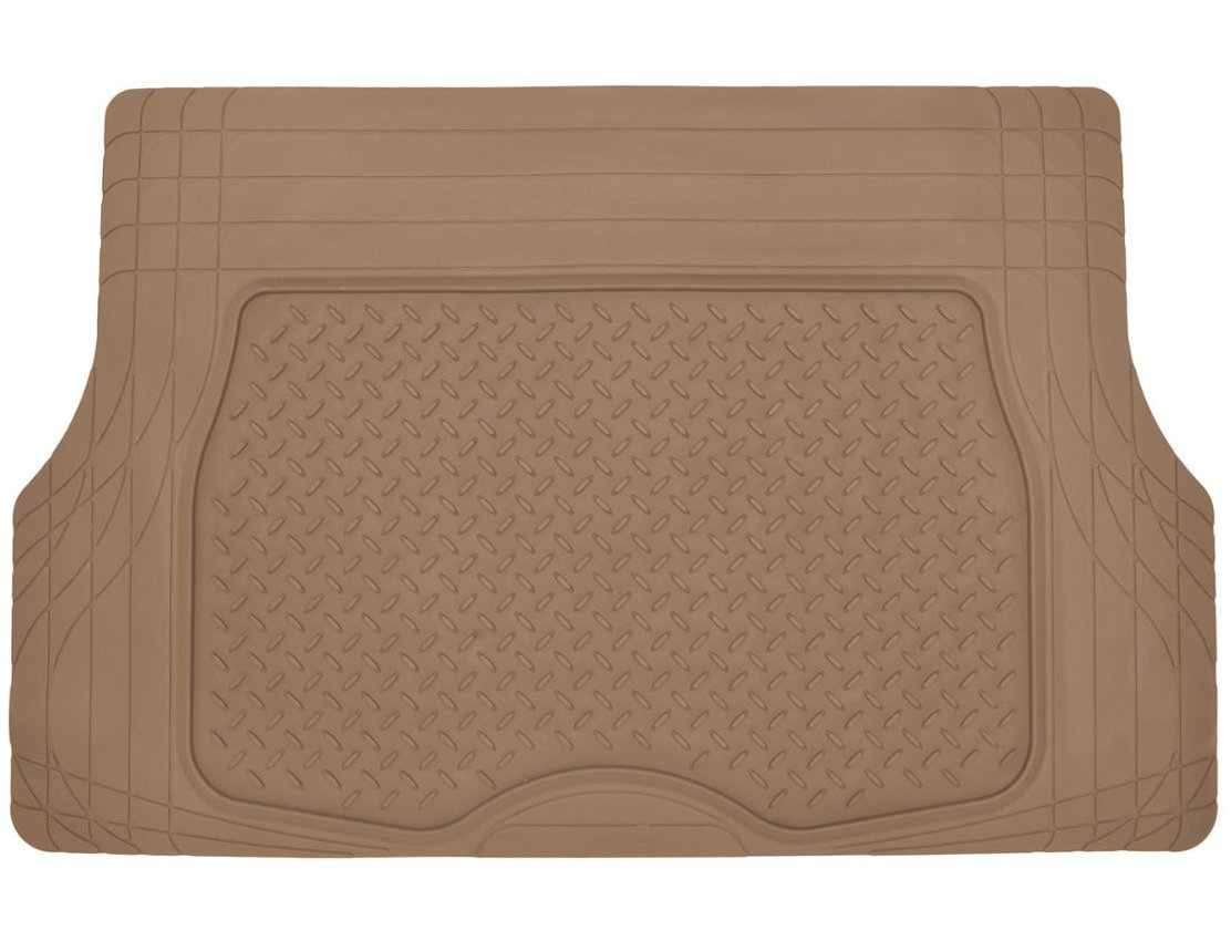 Odorless All Weather Gray Motor Trend Heavy Duty Rubber Cargo Mat Trunk Liner for Car SUV Auto