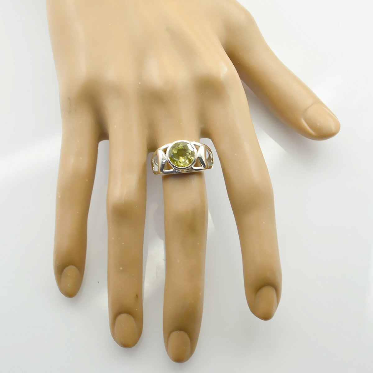 IcedJewels 2.05 cttw Round CZ 10K Yellow Gold 7 Pointed Crown Ring 6.5