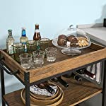 Haotian FKW56-N,Bar Serving Cart Home Myra Rustic Mobile Kitchen Serving cart,Industrial Vintage Style Wood Metal…
