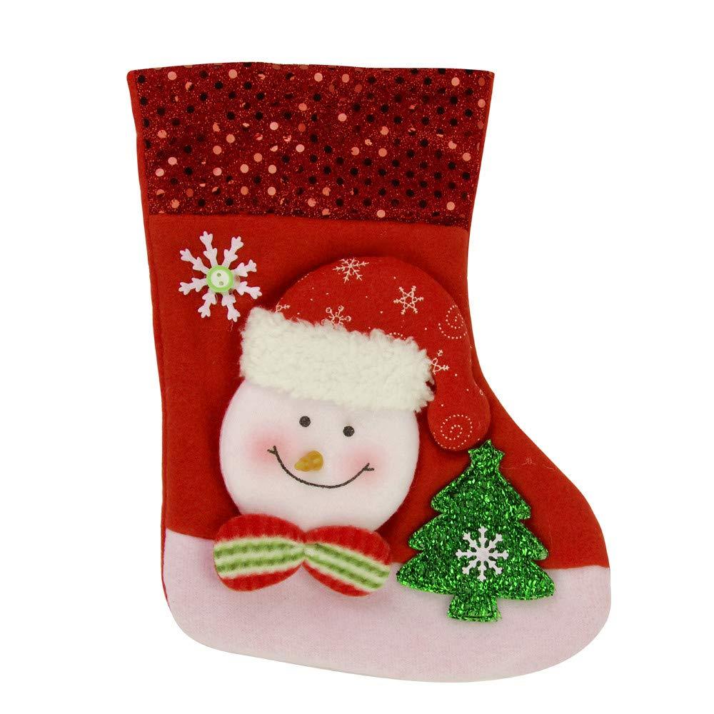 nanzhushangmao Christmas Santa Sock, Snowman Reindeer Xmas Hanging Candy Gift Bag (B)