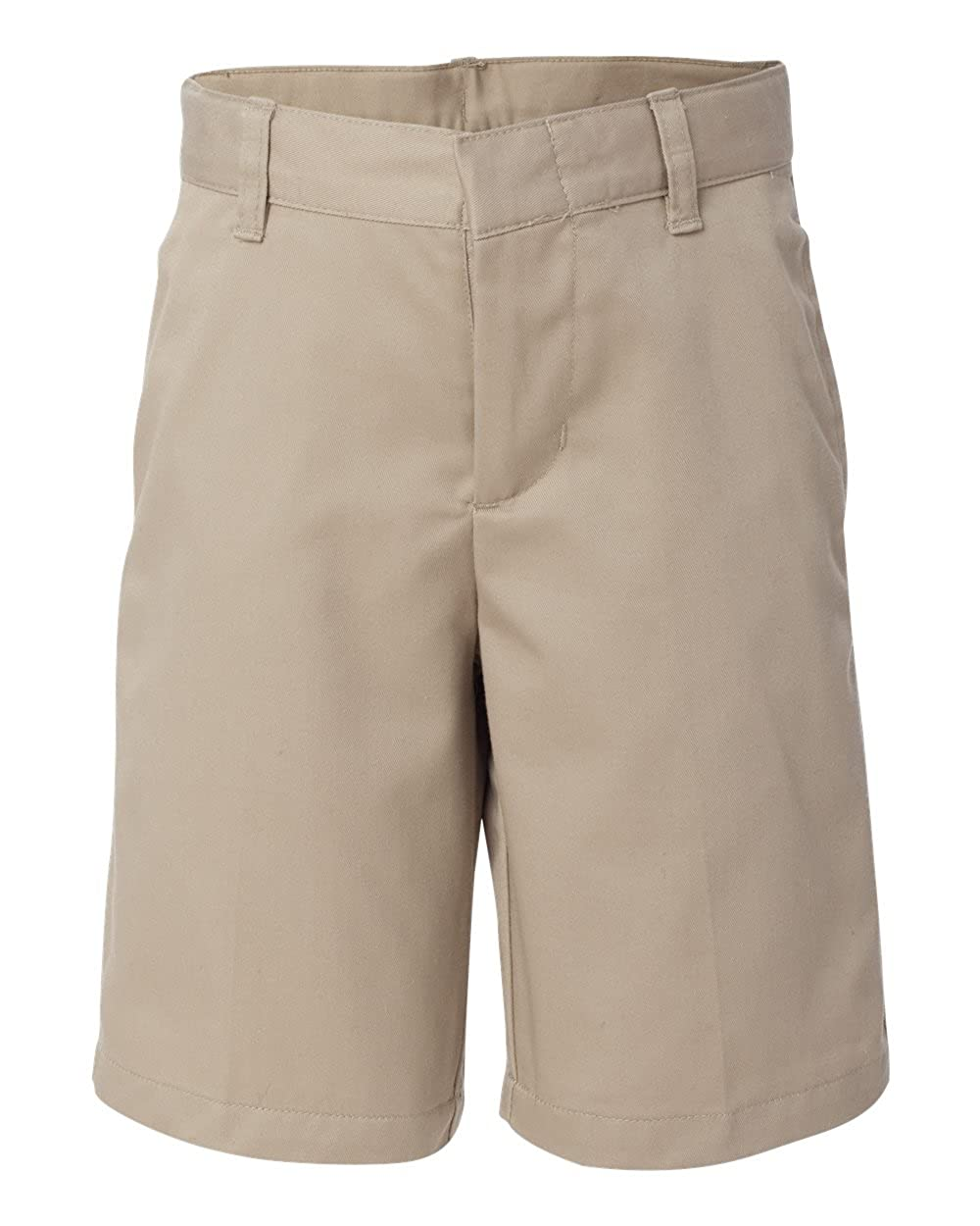 French Toast School Uniform Boys Flat Front Adjustable Waist Shorts, Khaki, 5