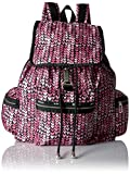 LeSportsac Women's Essential 3 Zip Voyager, Painted Hearts Pink