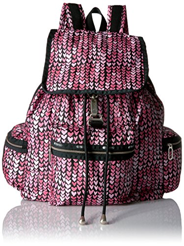 LeSportsac Women's Essential 3 Zip Voyager, Painted Hearts Pink by LeSportsac