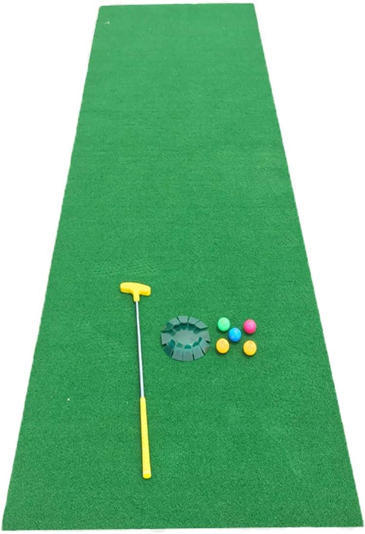 FUN緑 10フィートx39インチ パシフィックプロフェッショナルゴルフパッティング グリーン 屋内 滑り止め ポータブル スイングトレーニングマット 屋外 フェルト下部 芝生 パッティングマット オフィス用品