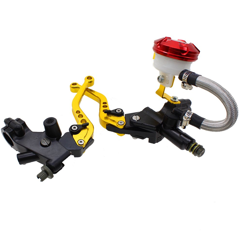 FXCNC Racing Universal Motorcycle 7//8 22mm CNC Brake Clutch Master Cylinder Hydraulic Lever Reservoir Set for 125-400CC Sports Motorbike Scooter