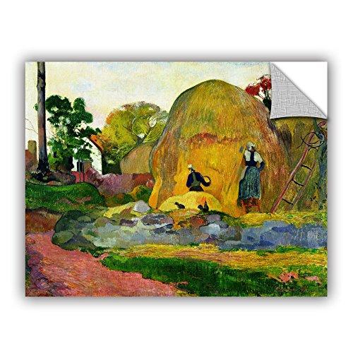 ArtWall Paul Gauguin's Yellow Haystacks Art Appeelz Removable Graphic Wall Art, 24 x 32