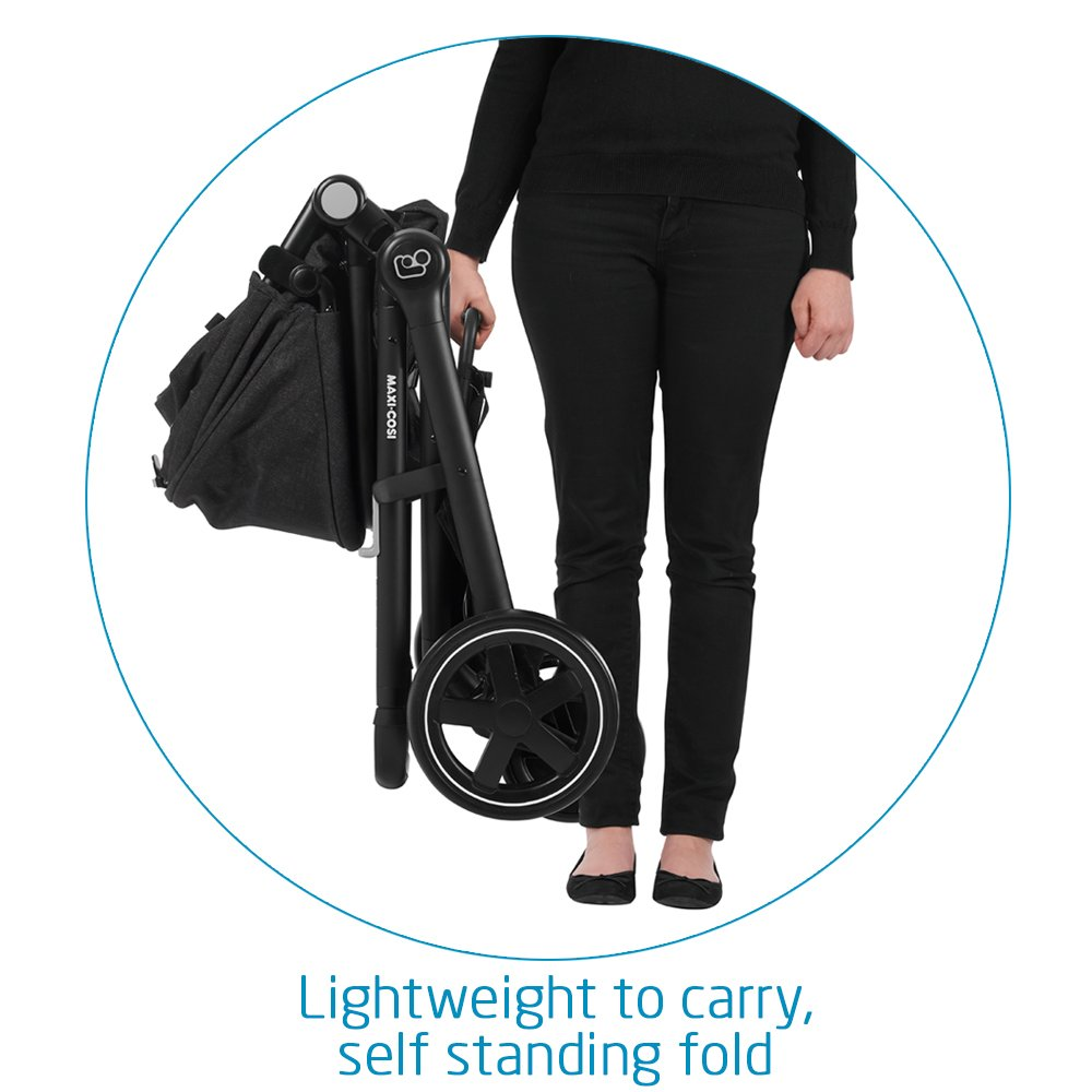 Maxi-Cosi Zelia 5-in-1 Modular Travel System Stroller and Mico 30 Infant Car Seat Set (Night Black) by Maxi-Cosi (Image #5)