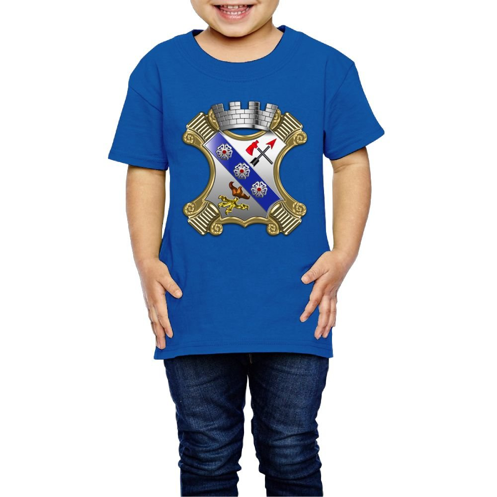 Girls US Army Regimental Insignia T Shirts Photoshoots Or Hiking Camping Travel Vacation T-Shirt Or Daily Wear RoyalBlue 5-6 Toddler
