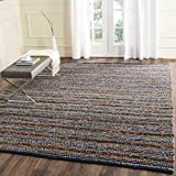 Safavieh Cape Cod Collection CAP361A Hand Woven Blue and Multi Jute Area Rug (9' x 12')