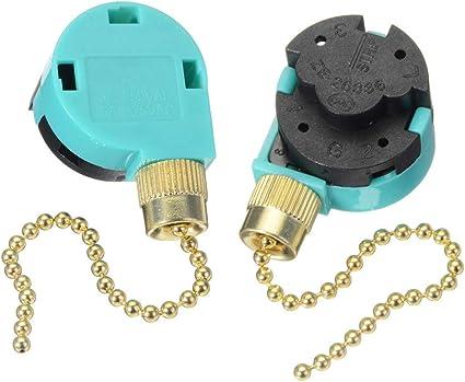 Zing Ear ZE-268S6 - Juego de 2 ventiladores de techo (3 ...
