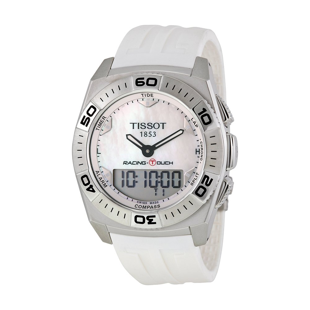 Tissot Racing Touch White Dial SS Rubber Quartz Men's Watch T0025201711100