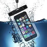 Custodia per Cellulari Impermeabile VicTsing Universale Waterproof IPX8 Cover Snowproof Dustproof Case, per Sport, Spiaggia, Pesca, Nuoto, Canottaggio, Kayak, Snorkeling, per iPhone 7 6 Plus 6S Plus, 6S 6, 5 5S 5C SE, Galaxy S7 S7 Edge S6 S5, Huawei Xiaomi LG Lumia e altri Smartphone, Trasparente