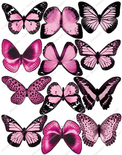 Cakeshop 12 x PRE-CUT Light Pink Edible Butterfly Cake - Mail Time Delivery Estimate
