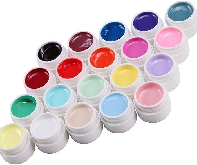 Lote de 20 colores Gel uv monofase para uñas gama falsos tip ...