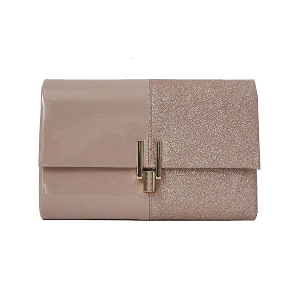 Women Glitter Envelope Clutch Purses, Bridal Elegant Handbags with Chain - Flap Crossbody Bag for Wedding Party (pink-1)