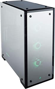 Corsair CORSAIR Crystal 570X RGB Mid-Tower Case, 3 RGB Fans, Tempered Glass - Mirror Black (CC-9011126-WW)