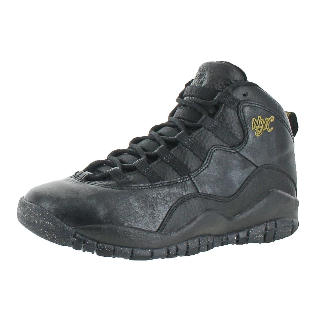 Jordan Boys Air 10 Retro BG Basketball Shoes Black 3.5 Medium (D) Big Kid by Jordan