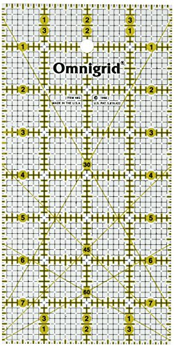 Omnigrid 4-Inch by 8-Inch Quilter's (4in Ruler)