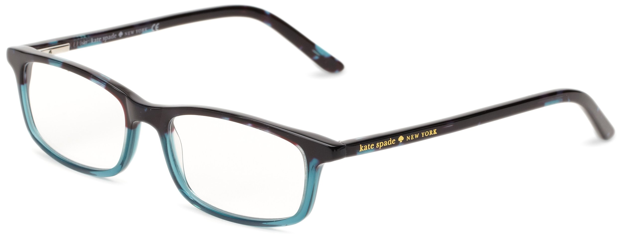 Kate Spade Women's Jodie Rectangular, Sky Blue Tortoise, 50 mm 1.5