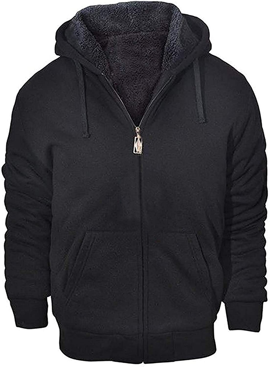 GEEK LIGHTING Hoodies for Men Heavyweight Fleece Sweatshirt - Full Zip Up Thick Sherpa Lined at  Men's Clothing store
