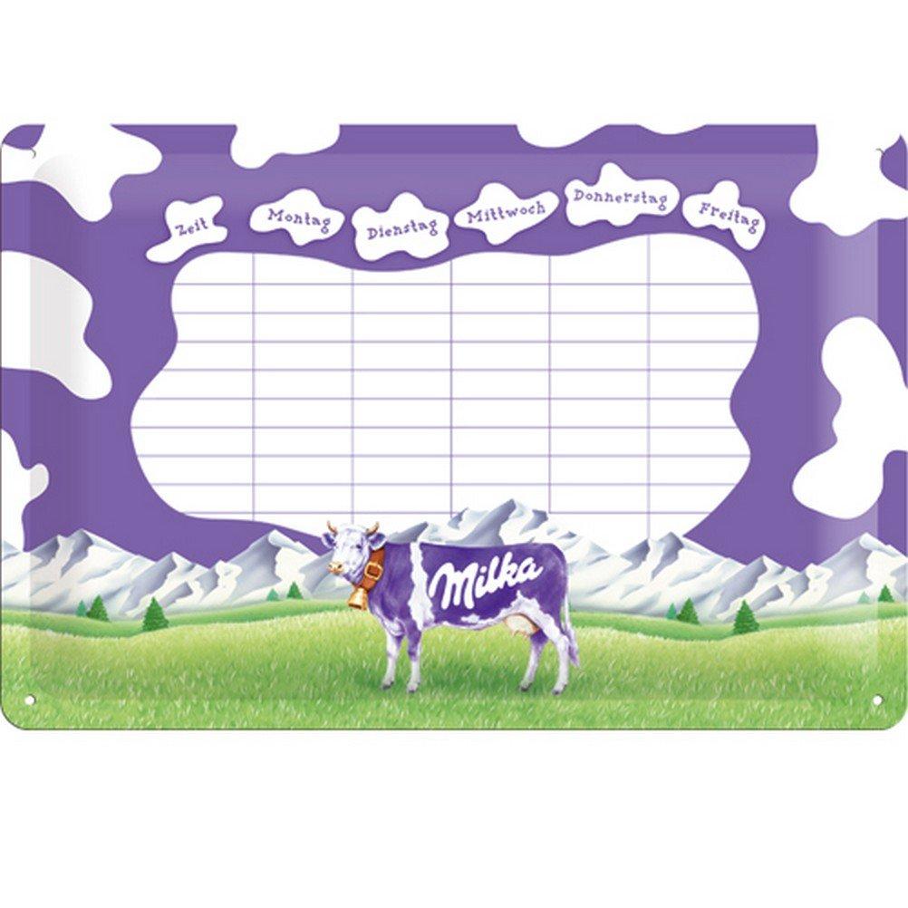 Milka Reklame Nostalgie wochenplaner/Horario Cartel de Chapa ...