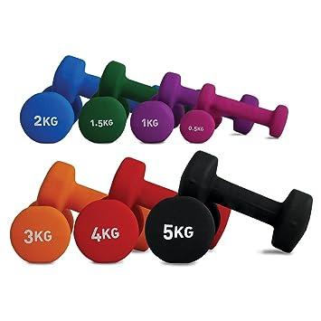 Fitness-Mad - Mancuernas con Revestimiento de Neopreno (0,5 kg), Color Rosa: Amazon.es: Deportes y aire libre