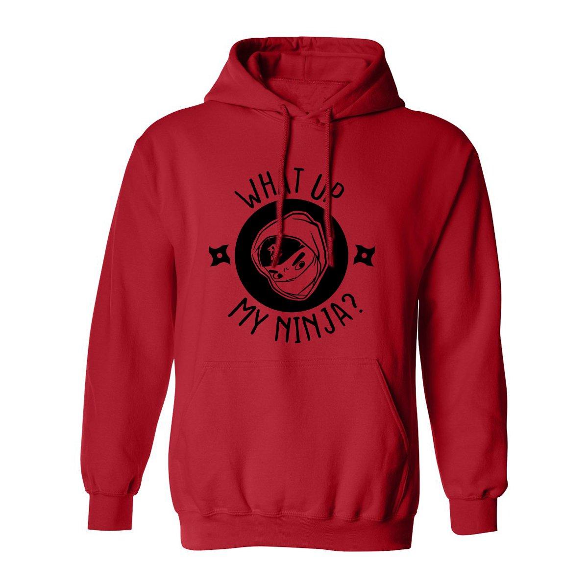 What UP My Ninja? Adult Hooded Sweatshirt at Amazon Mens ...