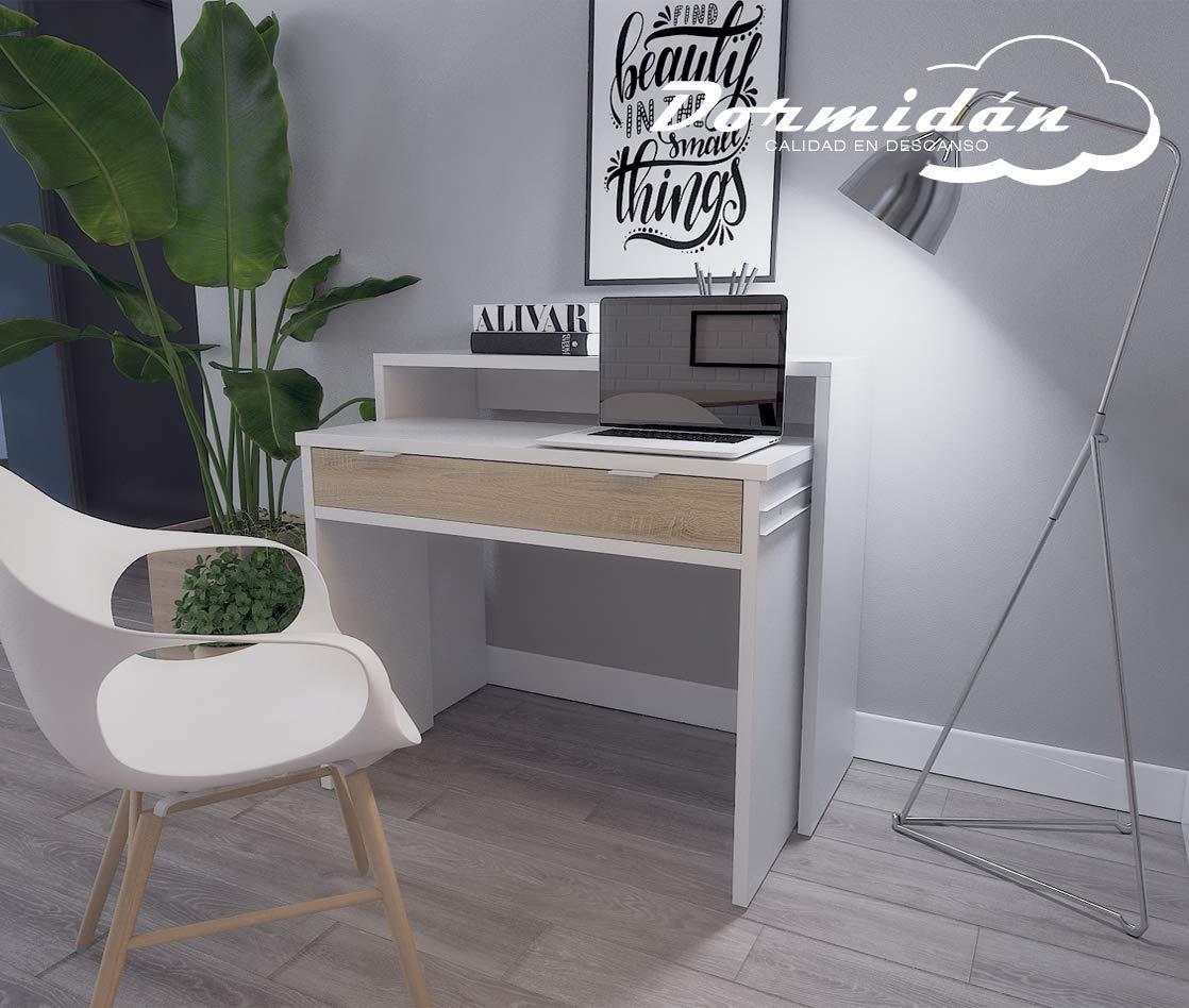Dormidán- Mesa Escritorio Extensible, Consola Estudio, (Blanco ...