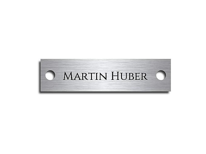 Cartel para puerta/Buzón placa de acero inoxidable Incluye ...