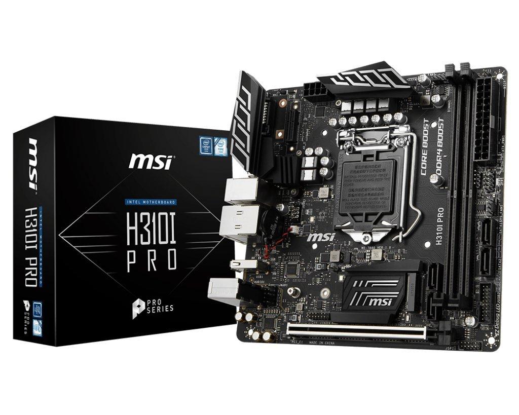 MSI Pro Series Intel Coffee Lake H310 LGA 1151 DDR4 Onboard Graphics Mini ITX Motherboard (H310I PRO)