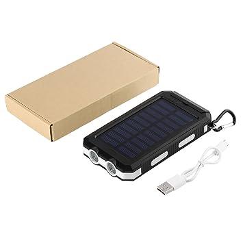 Cargador Solar Power Bank 24000mAh, Cargador portátil con una Entrada y 2 Puertos de Carga