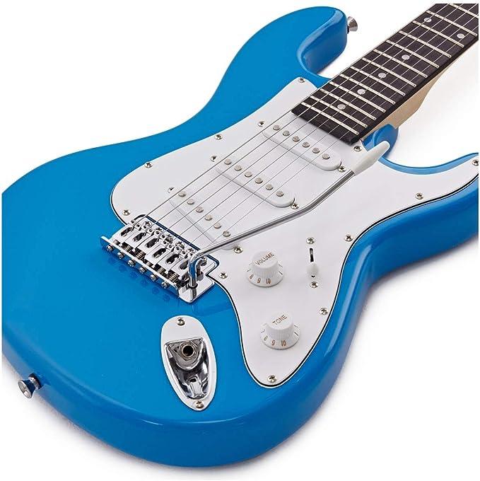 Set de Guitarra Electrica LA 3/4 + Amplificador Blue: Amazon.es ...