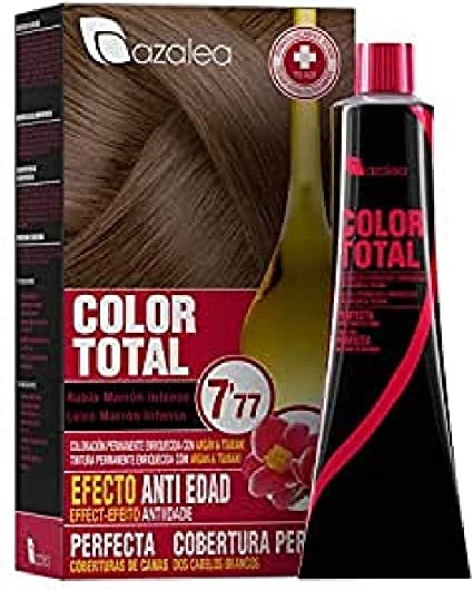 Azalea Total Tinte Capilar Permanente, Color Rubio Marrón Intenso - 224 gr