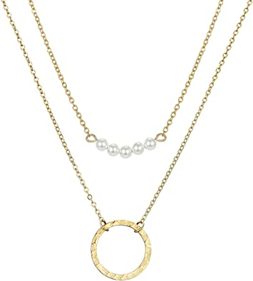 14KT GOLD ENGRAVABLE CROSTAINLESS STEEL LARIET NECKLACE GOLD NECKLACE