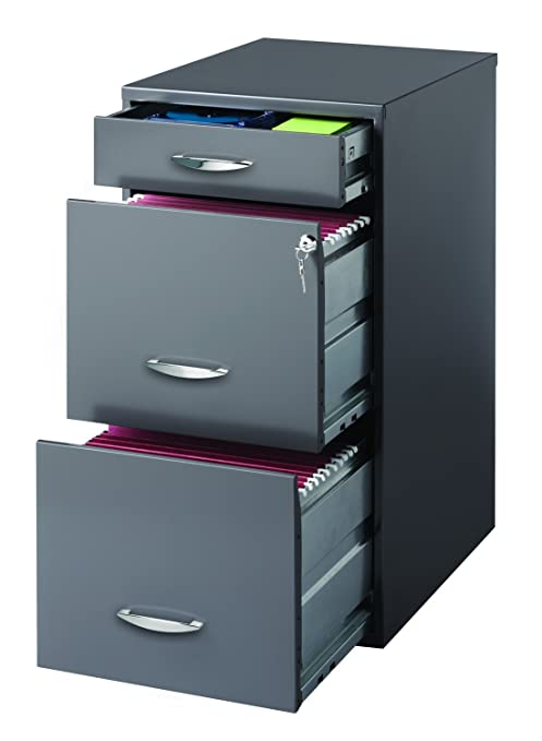 Incredible Hirsh Soho 3 Drawer File Cabinet In Charcoal Interior Design Ideas Pimpapslepicentreinfo