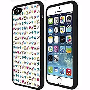 Cute Pink Girly Emoji Background PC Snap on Phone Case (iPhone 6 Plus)