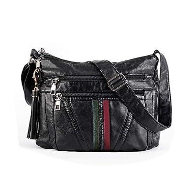 Amazon.com: Bandolera para mujer, bolsos de piel sintética ...