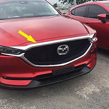 beautost para Mazda 2017 2018 Nueva CX-5 CX5 cromado frente capucha parrilla para capó Trim: Amazon.es: Coche y moto