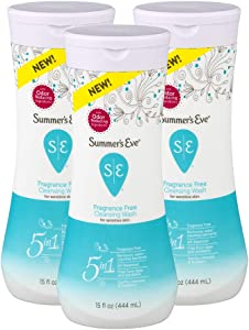 Summer's Eve Cleansing Wash | Fragrance Free | Gynecologist Tested | 15 fl oz | Pack of 3
