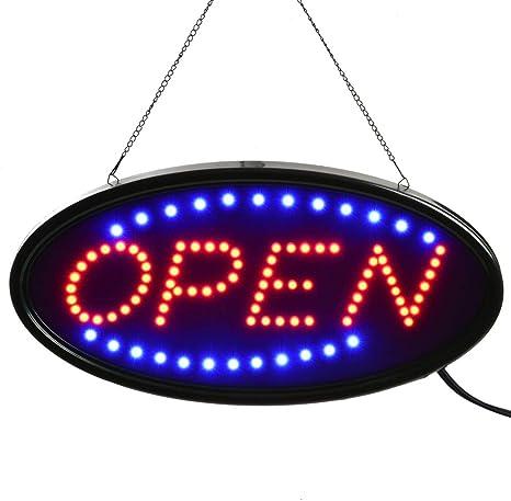 Amazon.com: Señal LED abierta, señal abierta de negocios con ...