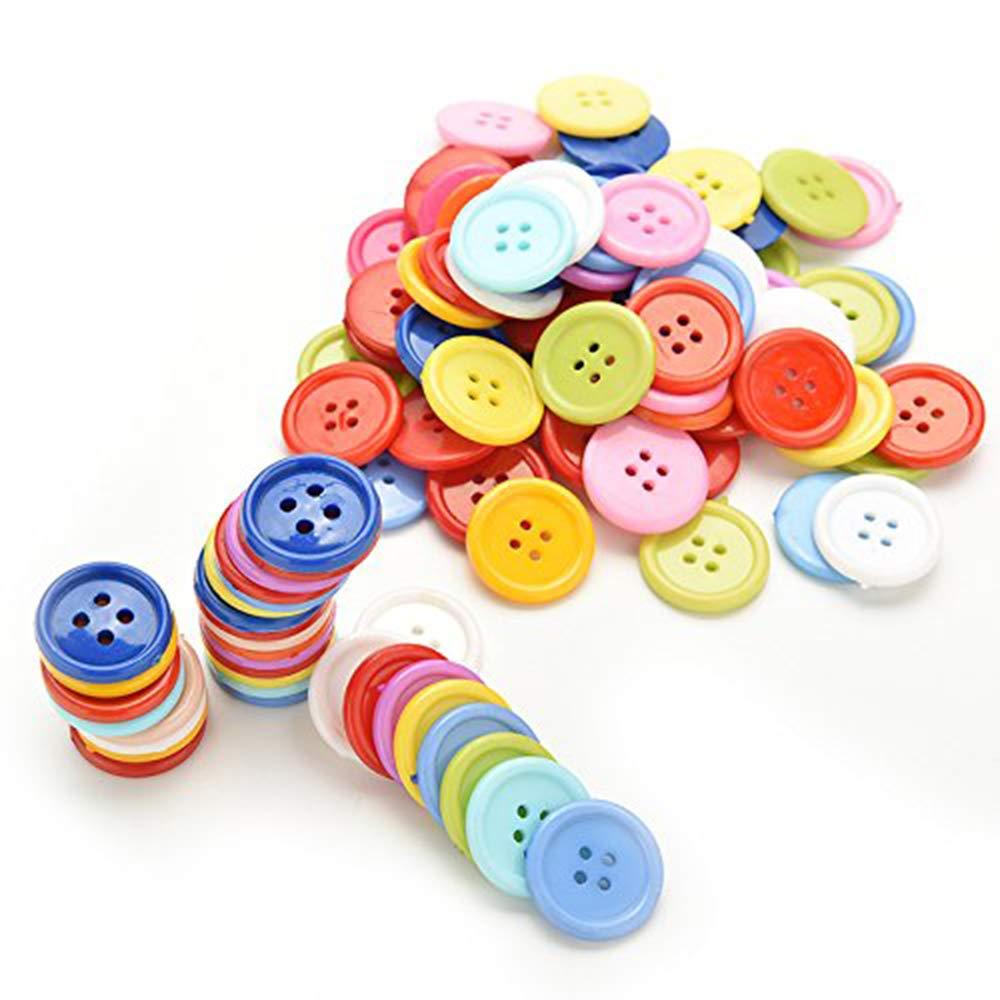 Aofocy Lot von 100 Runde Kunststoffkn/öpfe DIY N/ähzeug f/ür Kind f/ür Handwerk 5 Gr/ö/ße zu w/ählen 9mm