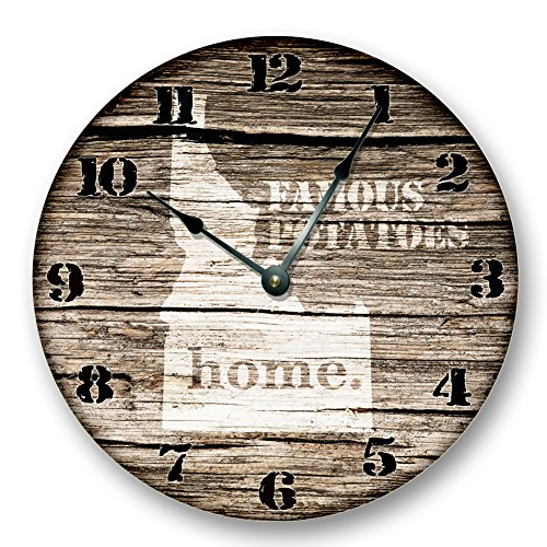 IDAHO STATE HOMELAND CLOCK - FAMOUS POTATOES - Large 10.5