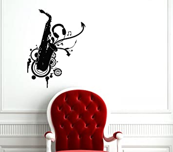 Jazz Saxophone Wall Mural Music Photo Wallpaper Bedroom Home Decor