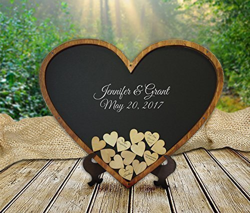 Heart Shape Wedding Guestbook - Guest Book Alternative - Drop Box
