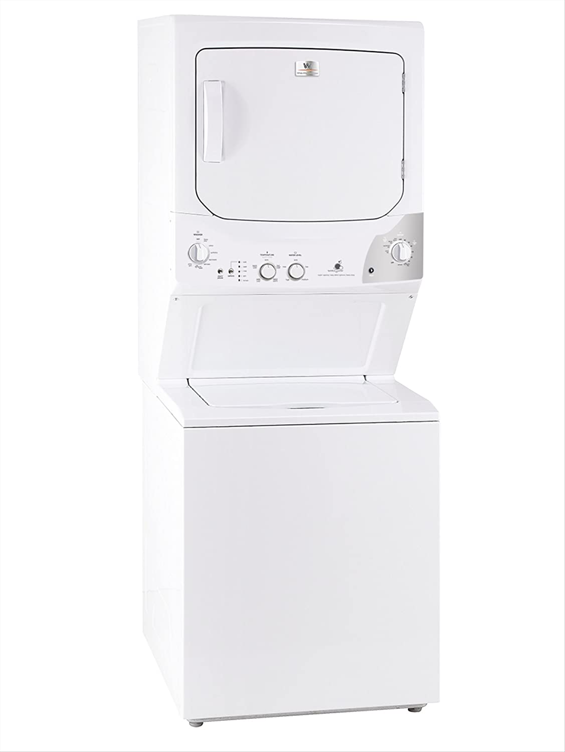 White-Westinghouse by Electrolux MKTG15GNAWB Laundry Center Stack Washer Dryer 220 Volts 50Hz Export Only
