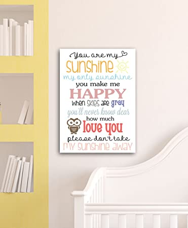 You Are My Sunshine Baby Wall Frames