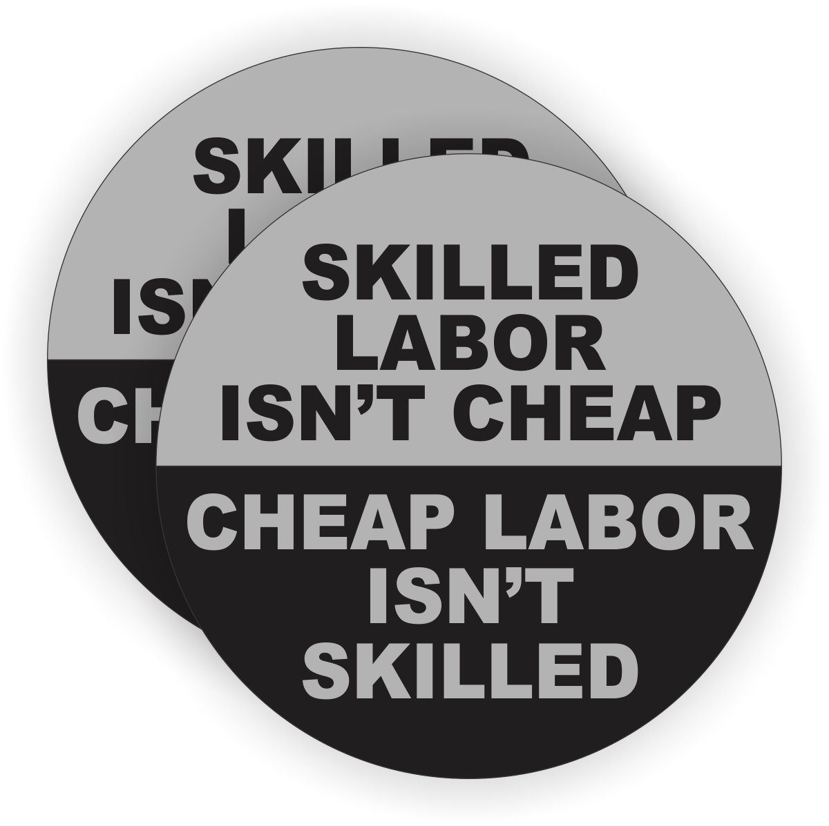 2 skilled labor isnt cheap hard hat stickers funny welding helmet decals motorcycle foreman toolbox labels badges emblems amazon com