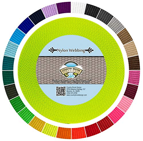 Country Brook Design | Hot Yellow Heavy Nylon Webbing (1 inch, 50 yards) ()