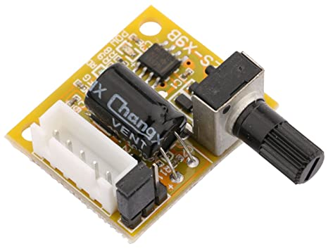 Yeeco DC Brush Motor Controller, 15W DC Brushed Motor Driver DC 5V-12V 5V  12V Motor Drive Controller Board Speed Regulator with Reversible Switch