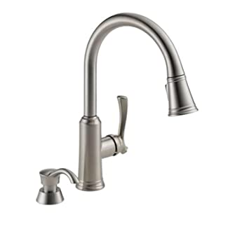 Delta 19963 Sssd Dst Single Handle Pull Down Sprayer Kitchen Faucet